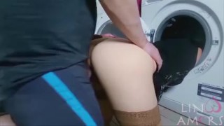 Preview 4 of Step-mom force fucked and get cum in mouth by step-son while she is stuck
