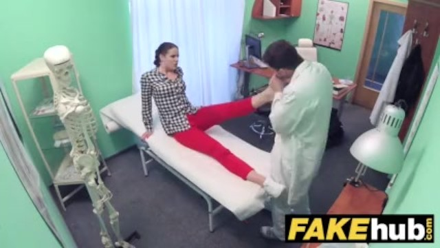 Sexual harassment in the hositality business - Fake hospital doctor prescribes sticky facial to help heal sexy brunette