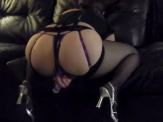sexy striptease with multiple loud orgasms