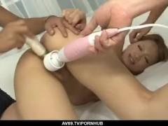 Ai Shirosakia toy porn and xxx group hardcore on cam