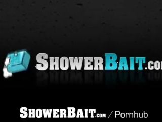 ShowerBait Str8 Tryp Bates shower fucks Mason Lear