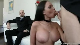 Screen Capture of Video Titled: Exotic Swinger Wife Fucks Another Man