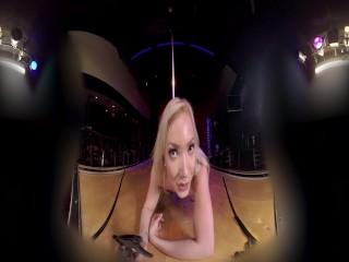Big Booty Blonde Stripper Cums For Daddy POV VR