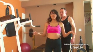 Interactive - Asian girl fucks personal trainer