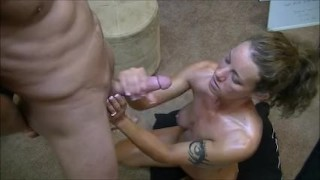 Telling gangbangs husband handjobs him to gives her hotwife while about dirty orgasm