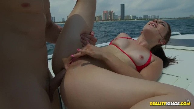 Tattoed girl Mandy Muse takes a hard dick in her ass on a boat 11