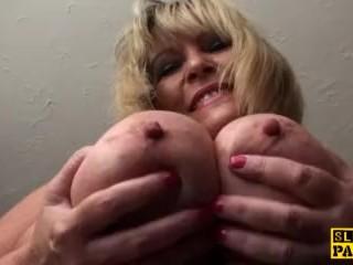 Fat british grandma masturbating