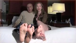 Mistress T- Cuckold Foot Slave