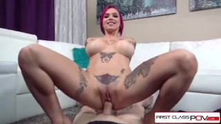 First Class POV Anna Bell Peaks is fucked by a huge cock in POV style