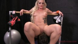 Cali Carter Makes Her Slave Lick Every Bit of Sweat Off Her Ass - Femdom