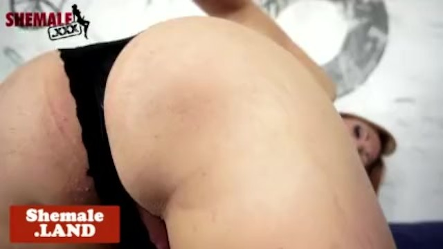 Busty amateur transsexual solo pulling dick 5