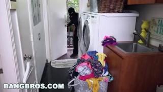 BANGBROS - Curvy MILF Sara Jay Fucks A Burglar (ap15985) Big outside