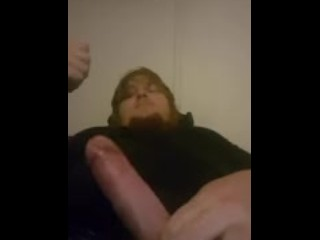 Oiled big cock cums all over himself
