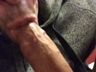 Sucking my cock lil I drool cum
