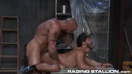 RagingStallion Built Stud Sean Duran Dominates his Ass
