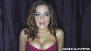 Behind the scenes interview from I Am Natasha Nice Big brunette