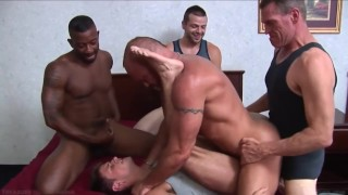 Best of gay anal dp the penetration double group raw