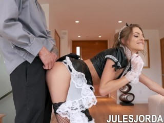 Jules Jordan – Kimmy Granger Performs Maid Service On A Very Large Cock