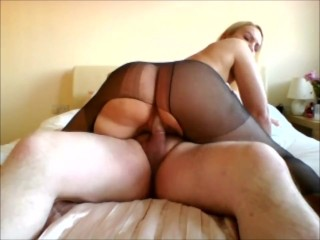Big rides the cock ripped nylons...