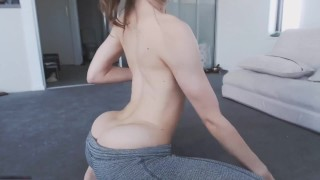 Teen yoga hot pants in only pants shaved