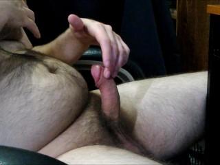 JeromeKox - Solo Masturbation Side View With A Nice Cumshot!