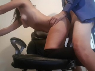 Quiet Amateur Office Sex on A Monday Morning