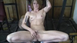 Naked Fit Redhead Cums From Finger Fucking Herself