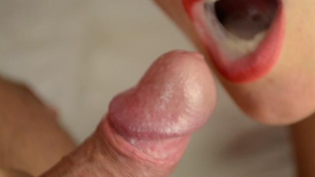 Cum in mouth closeup