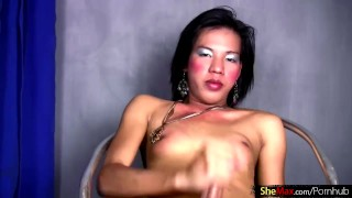 FULL video of Ass toying Filipino femboy stroking thick dick Masturbate blond