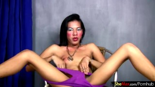 FULL video of Ass toying Filipino femboy stroking thick dick
