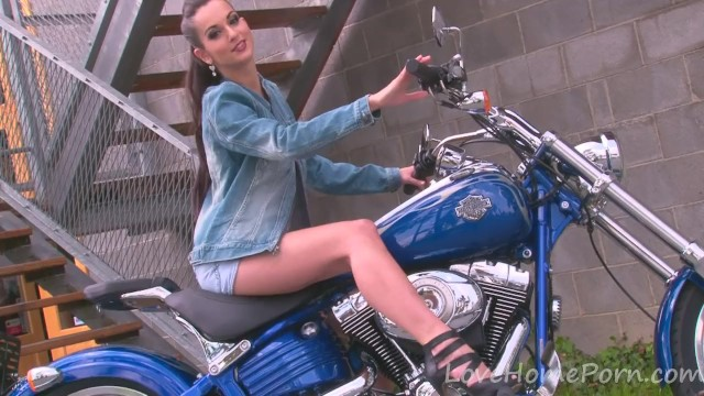 Thierry mugler vintage motorcycle jacket - Hot motorcycle babe strips for the camera