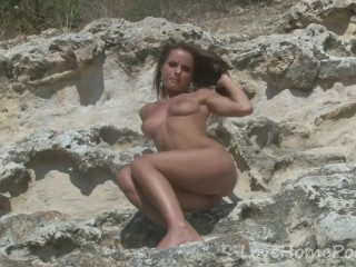 Brunette angel displays her absolutely stunning body