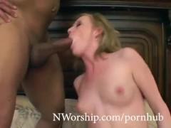 horny blonde slut threesome with 2 big black cocks interracial porn