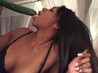 Blowjob Sucking xxx: Food Sex - Sloppy Blowjob - Sucking Cucumbers - Spitting - EbonyLovers