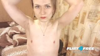 Seductive Shemale Eva Sunny Strokes Her Big Beautiful TCock