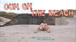 Cum on the beach