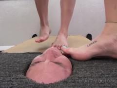 Facebox Foot gagging 2 Brattyfootgirls.com