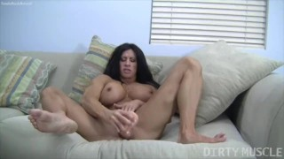 Naked Female Bodybuilder Angela Salvagno Fucks Herself