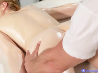 Sensual redhead Teen gets massaged and pleasured