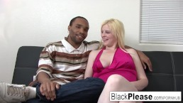 Blonde BBW Sparkle can't get enough BBC