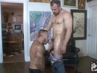 Thick Daddy Max Sargent Tears into Alessio Romero With his Fat Cock