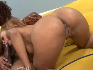 Misty Stone Shares Her Big Booty Friend With Lucky Black Cock