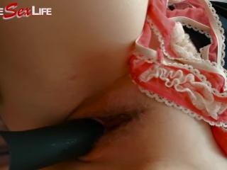 Teddy Bear & Dildo vs Teen Girlfriend :) Great Orgasm! Enjoy! LSL #14