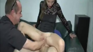 Double fisting and fucking her ruined loose pussy
