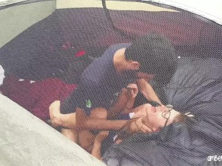 Caught Fucking Hard In Friends Tent Camping