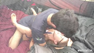 Caught Fucking Hard In Friends Tent Camping Teenager wet