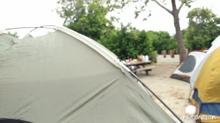 Friends tent hard fucking camping caught in caught teenager