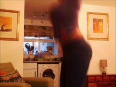 Bouncing and Jumping huge tits and booty after the gym