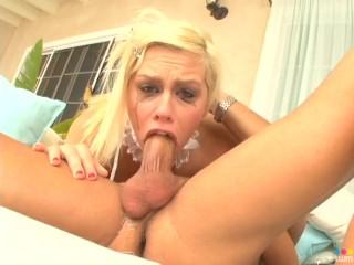 Teen TARA LYNN FOXX Amazing Deepthroat Huge Cock Blowjob! MUST SEE! A++