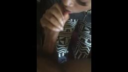 Black teen getting his dick sucked